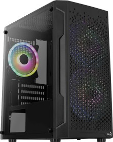 AeroCool Trinity Mini, Lüfter LED RGB, Glasfenster (AACCS-PV32133.11 / Trinity-Mini-G-BK-v3)
