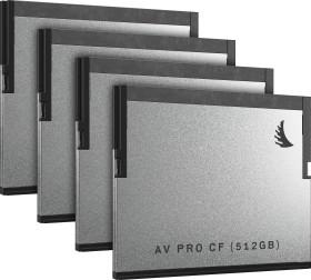 Angelbird AV PRO R550/W490 CFast 2.0 CompactFlash Card 1TB, 4er-Pack (AVP1TBCFX4)