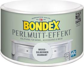 Bondex Perlmutt-Effekt Farbe innen Holzschutzmittel weiß-silberner diamant, 500ml (424267)