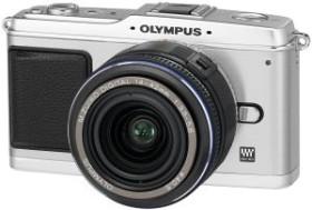 Olympus PEN E-P1 silber mit Objektiv M.Zuiko digital ED 14-42mm (N3592692/N3602492)