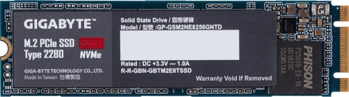 Gigabyte M.2 PCIe SSD 256GB, M.2 (GP-GSM2NE8256GNTD)