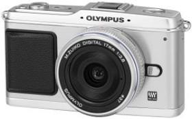 Olympus PEN E-P1 silber mit Objektiv M.Zuiko digital 17mm 2.8 Pancake (N3592292)