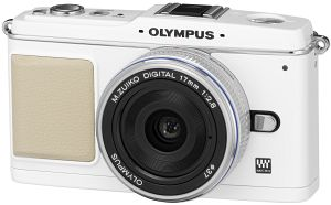 Olympus PEN E-P1 (EVIL) white with lens M.Zuiko digital 17mm 2.8 Pancake (N3592392)