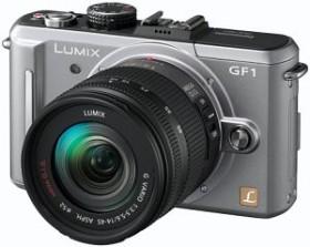 Panasonic Lumix DMC-GF1 silber mit Objektiv Lumix G 20mm 1.7 (DMC-GF1C)