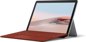 Microsoft Surface Go 2 Platin 128GB, 8GB RAM, Core m3-8100Y, Windows 10 S + Surface Go 2 Signature Type Keyboard Mohnrot Bundle