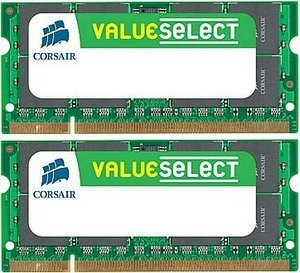 Corsair ValueSelect SO-DIMM kit 4GB, DDR2-800, CL5 (VS4GSDSKIT800D2)