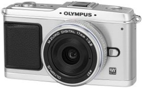 Olympus PEN E-P1 silber mit Objektiv M.Zuiko digital 17mm 2.8 Pancake und ED 14-42mm (N3593092)