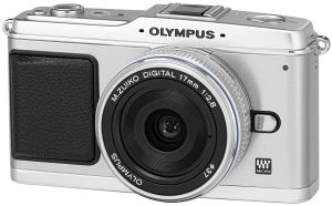 Olympus PEN E-P1 silver with lens M.Zuiko digital 17mm 2.8 Pancake and ED 14-42mm (N3593092)
