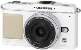 Olympus PEN E-P1 weiß mit Objektiv M.Zuiko digital 17mm 2.8 Pancake und ED 14-42mm (N3593192)