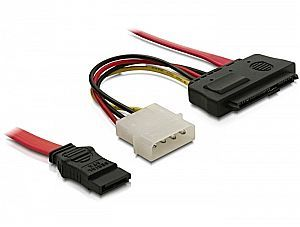 DeLOCK SAS (SFF-8482) to 1x SATA cable, 0.5m (82634)