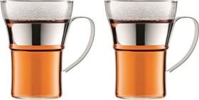 Bodum Assam Glas mit Metallgriff 0.35l, 2er-Pack (4553-16)