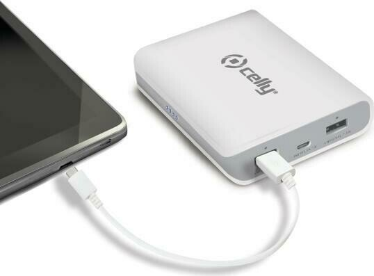 Celly Powerbank H24 8000 weiß (PB8000WH)