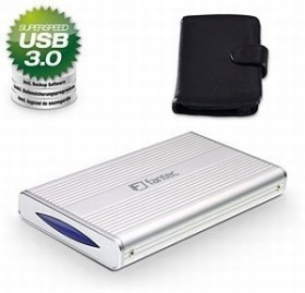 Fantec DB-228U3 silber, USB 3.0 Micro-B (1559)