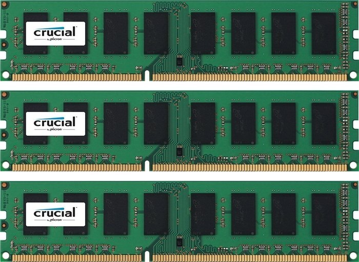 Crucial DIMM Kit 48GB PC3L-12800R reg ECC CL11 (DDR3L-1600) (CT3K16G3ERSLD4160B)