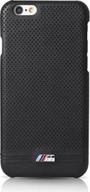 BMW Hard Cover Leather Perforated für Apple iPhone 6 Plus/6s Plus schwarz (BMHCP6LMPEBIC)