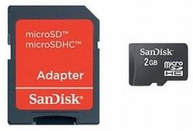 SanDisk microSDHC 2GB Kit, Class 4 (SDSDQM-002G-B35A)