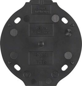 Berker Serie 1930 Selbstverlöschende Bodenplatte 1fach, schwarz (133111)