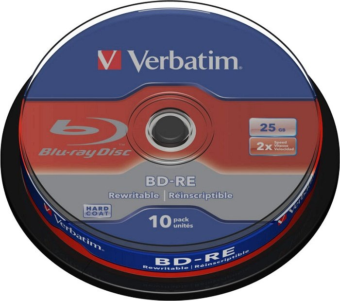Verbatim BD-RE 25GB 2x, 10er Spindel (43694)