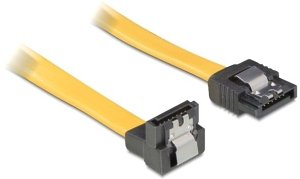 DeLOCK SATA Kabel gelb 0.5m mit Arretierung, unten/gerade (82479)