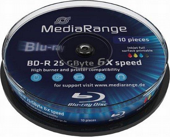 MediaRange BD-R DL 50GB 6x, 10er Spindel printable (MR509)