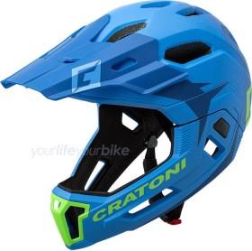 Cratoni C-Maniac Fullface-Helm blue/lime matt (112406B1/112406B2/112406B3)