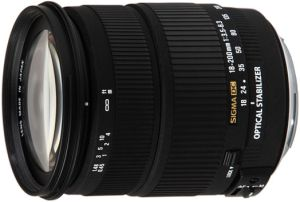 Sigma AF 18-200mm 3.5-6.3 DC OS HSM for Nikon F black (888955)