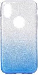 Forcell Shining Case für Samsung Galaxy A71 transparent/blau