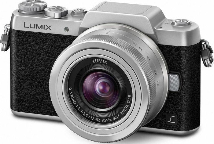 Panasonic Lumix DMC-GF7 schwarz mit Objektiv Lumix G Vario 12-32mm 3.5-5.6 ASPH OIS (DMC-GF7K)