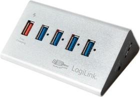 LogiLink USB-Hub, 5x USB-A 3.0, USB 3.0 Micro-B [Buchse] (UA0227)