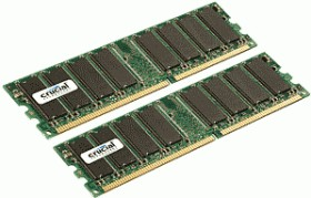 Crucial DIMM Kit 2GB, DDR2-800, CL6 (CT2KIT12864AA800)