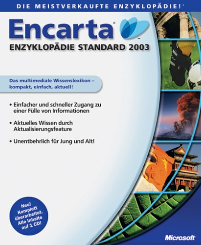 Microsoft: Encarta encyklopedia 2003 Standard (niemiecki) (PC) (196-00723) -- via Amazon Partnerprogramm