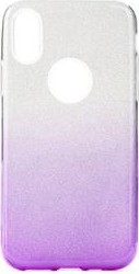 Forcell Shining Case für Samsung Galaxy A71 transparent/lila