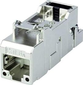 Telegärtner AMJ-S Modul T568B, RJ-45/RJ-11/RJ-12 Cat6A Modularstecker, feldkonfektionierbar, 2er-Pack (J00029A2001)