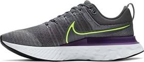 Nike React Infinity Run Flyknit 2 particle grey/iron grey/wild berry/volt (Herren) (CT2357-004)