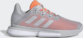 adidas Solematch Bounce Clay Court light solid grey/hi-res coral (Damen) (EF4461)