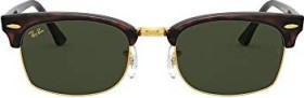 Ray-Ban RB3916 Clubmaster Square Legend Gold 52mm mock tortoise/green classic (RB3916-130431)