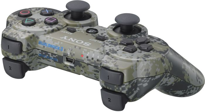 Sony DualShock 3 controller wireless, camouflage (PS3) -- provided by bepixelung.org - see http://bepixelung.org/3297 for copyright and usage information