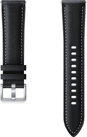 Samsung Stitch Leather Armband 20mm für Galaxy Watch/Watch 3 schwarz (ET-SLR85SBEGEU)