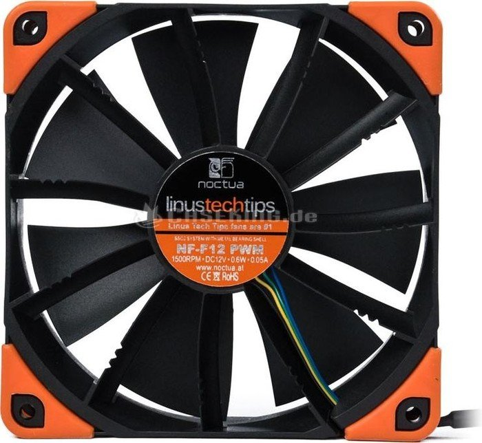 NEW RARE Noctua NF-F12 PWM 120MM Linus Tech Tips Special Edition Orange Fan