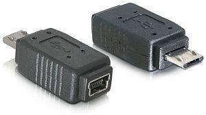 DeLOCK USB 2.0 adapter, micro B (plug) on mini-B 5-pin (plug) (65063)
