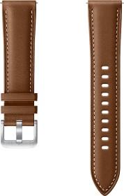 Samsung Stitch Leather Armband 20mm für Galaxy Watch/Watch 3 braun (ET-SLR85SAEGEU)