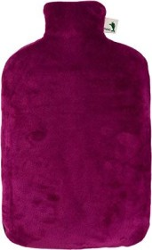 Hugo Frosch Nickibezug Öko-Wärmflasche purpur violett (3136)