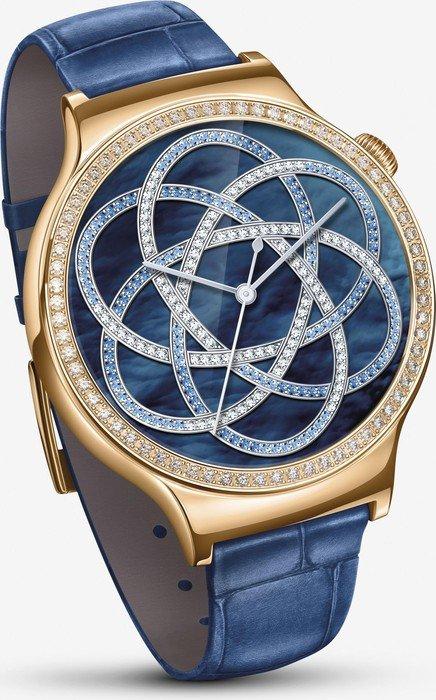 Huawei Watch Jewel mit Lederarmband gold/blau
