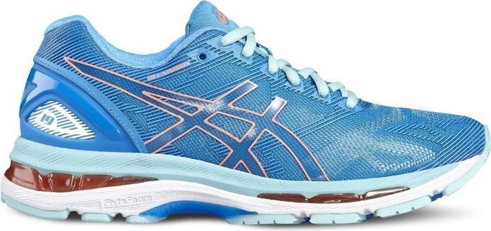 Asics Gel-Nimbus 19 diva blue/flash coral/aqua splash (Damen) (T750N-4306)