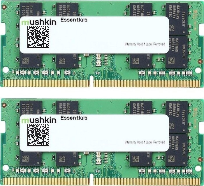 Mushkin Essentials SO-DIMM kit 16GB, DDR4-2400, CL17 (MES4S240HF8GX2)