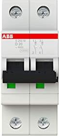 ABB Sicherungsautomat S200M, 2P, D, 20A (S202M-D20)