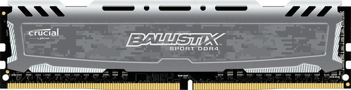 Crucial Ballistix Sport LT grau DIMM 8GB, DDR4-3000, CL16-18-18 (BLS8G4D30BESBK)