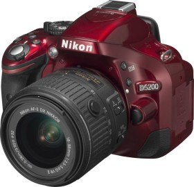 Nikon D5200 rot mit Objektiv AF-S VR DX 18-55mm 3.5-5.6G II (VBA351K006)