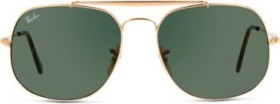 Ray-Ban RB3561 General 57mm gold/green classic (RB3561-001)