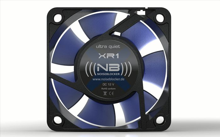 Noiseblocker NB-BlackSilentFan XR1, 60x60x25mm, 1600rpm, 18m³/h, 11dB(A)